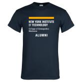 Navy T Shirt-Aumni