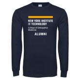 Navy Long Sleeve T Shirt-Aumni