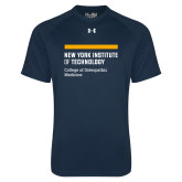 Under Armour Navy Tech Tee-NYIT College of Osteopathic Medicine - Horiontal