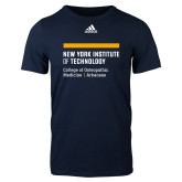 Adidas Navy Logo T Shirt-College of Osteopathic Medicine at Arkansas