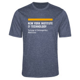 Performance Navy Heather Contender Tee-NYIT College of Osteopathic Medicine - Horiontal