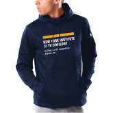 Under Armour Navy Armour Fleece Hoodie-NYIT College of Osteopathic Medicine - Horiontal