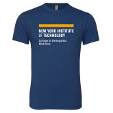 Next Level Vintage Navy Tri Blend Crew-NYIT College of Osteopathic Medicine - Horiontal