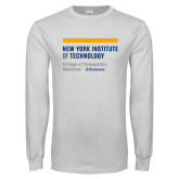 White Long Sleeve T Shirt-College of Osteopathic Medicine at Arkansas