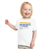 Toddler White T Shirt-NYIT College of Osteopathic Medicine - Horiontal