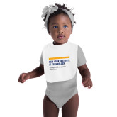 White Baby Bib-NYIT College of Osteopathic Medicine - Horiontal