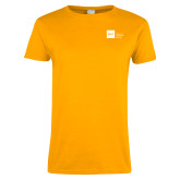 Ladies Gold T Shirt-NYIT College of Osteopathic Medicine - Horizontal