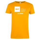 Ladies Gold T Shirt-Aumni