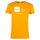 Ladies Gold T Shirt-Class of..., Personalized year