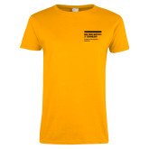 Ladies Gold T Shirt-NYIT College of Osteopathic Medicine - Horiontal