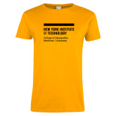Ladies Gold T Shirt-College of Osteopathic Medicine at Arkansas