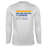 Performance White Longsleeve Shirt-College of Osteopathic Medicine at Arkansas