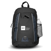 Impulse Black Backpack-NYIT College of Osteopathic Medicine - Horizontal