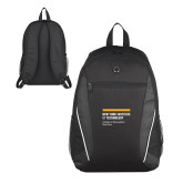 Atlas Black Computer Backpack-NYIT College of Osteopathic Medicine - Horiontal