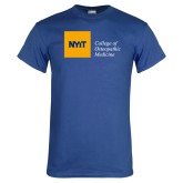 Royal T Shirt-NYIT College of Osteopathic Medicine - Horizontal