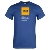 Royal T Shirt-NYIT College of Osteopathic Medicine - Vertical