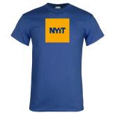 Royal T Shirt-NYIT Logo