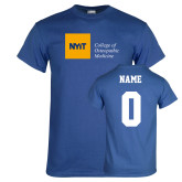 Royal T Shirt-NYIT College of Osteopathic Medicine - Horizontal, Custom tee w/ name and #