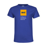 Youth Royal T Shirt-NYIT College of Osteopathic Medicine - Vertical