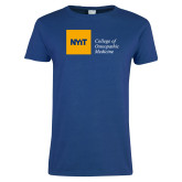 Ladies Royal T Shirt-NYIT College of Osteopathic Medicine - Horizontal