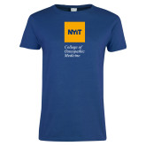 Ladies Royal T Shirt-NYIT College of Osteopathic Medicine - Vertical