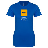 Next Level Ladies SoftStyle Junior Fitted Royal Tee-NYIT College of Osteopathic Medicine - Vertical