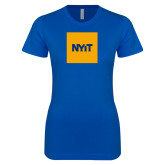 Next Level Ladies SoftStyle Junior Fitted Royal Tee-NYIT Logo