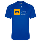 Under Armour Royal Tech Tee-NYIT College of Osteopathic Medicine - Horizontal