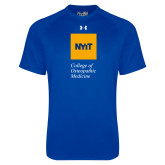 Under Armour Royal Tech Tee-NYIT College of Osteopathic Medicine - Vertical