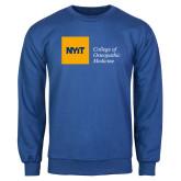 Royal Fleece Crew-NYIT College of Osteopathic Medicine - Horizontal