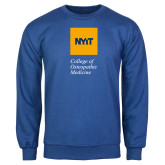 Royal Fleece Crew-NYIT College of Osteopathic Medicine - Vertical