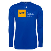 Under Armour Royal Long Sleeve Tech Tee-NYIT College of Osteopathic Medicine - Horizontal