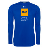 Under Armour Royal Long Sleeve Tech Tee-NYIT College of Osteopathic Medicine - Vertical