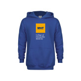 Youth Royal Fleece Hoodie-NYIT College of Osteopathic Medicine - Vertical