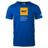 Adidas Royal Logo T Shirt-NYIT College of Osteopathic Medicine - Vertical