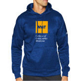 Adidas Royal Team Issue Hoodie-NYIT College of Osteopathic Medicine - Vertical