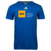 Adidas Climalite Royal Ultimate Performance Tee-NYIT College of Osteopathic Medicine - Horizontal