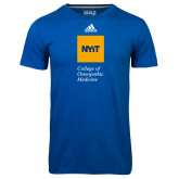 Adidas Climalite Royal Ultimate Performance Tee-NYIT College of Osteopathic Medicine - Vertical
