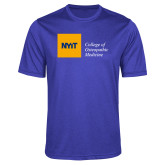 Performance Royal Heather Contender Tee-NYIT College of Osteopathic Medicine - Horizontal