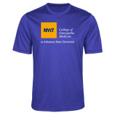 Performance Royal Heather Contender Tee-College of Osteopathic Medicine at Arkansas