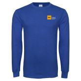 Royal Long Sleeve T Shirt-NYIT College of Osteopathic Medicine - Horizontal
