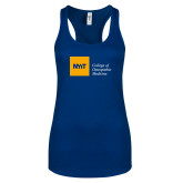 Next Level Ladies Royal Ideal Racerback Tank-NYIT College of Osteopathic Medicine - Horizontal