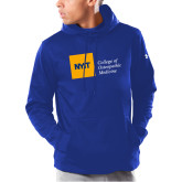 Under Armour Royal Armour Fleece Hoodie-NYIT College of Osteopathic Medicine - Horizontal