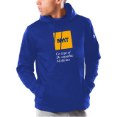 Under Armour Royal Armour Fleece Hoodie-NYIT College of Osteopathic Medicine - Vertical