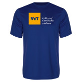 Performance Royal Tee-NYIT College of Osteopathic Medicine - Horizontal