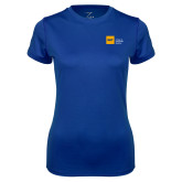 Ladies Syntrel Performance Royal Tee-NYIT College of Osteopathic Medicine - Horizontal