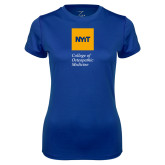 Ladies Syntrel Performance Royal Tee-NYIT College of Osteopathic Medicine - Vertical