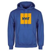 Royal Fleece Hoodie-NYIT Logo
