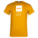 Gold T Shirt-NYIT College of Osteopathic Medicine - Vertical