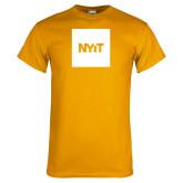 Gold T Shirt-NYIT Logo